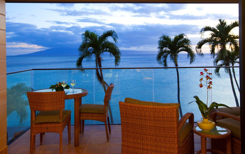 Napili Kai Resort Sunset View from balcony