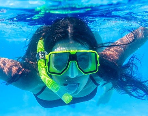 Woman Snorkeling at NKBR